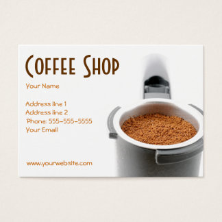 Trendy Coffee Shop Business Card