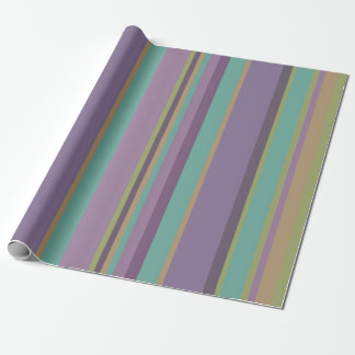 Trendy Colored Stripes Pattern Wrapping Paper
