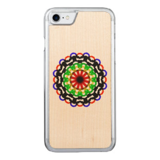 Trendy colorful circle pattern carved iPhone 8/7 case
