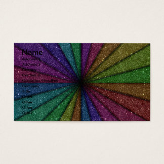Trendy Colorful Glitter Explosion Business Card
