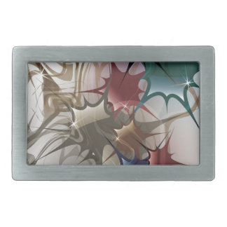 Trendy Colorful Ink Splash Belt Buckle