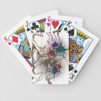 Trendy Colorful Ink Splash Bicycle Playing Cards