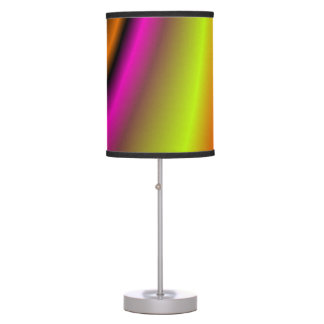Trendy colorful line table lamps
