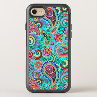 Trendy Colorful Paisley Seamless Pattern OtterBox Symmetry iPhone 8/7 Case