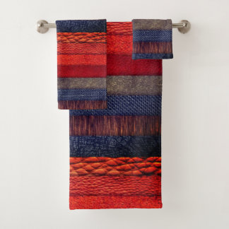Trendy  colorful rug cloth stack texture design