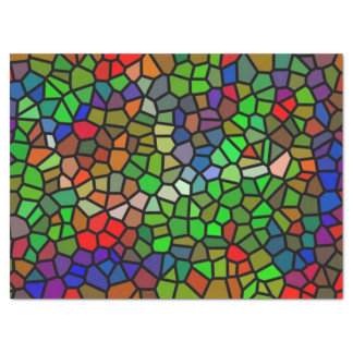 Trendy Colorful stained glass Tissue Paper