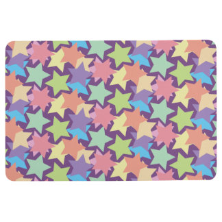 Trendy Colorful Stars Floor Mat