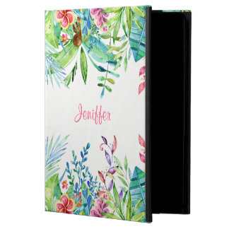 Trendy Colorful Tropical Flowers iPad Air Cases