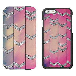 Trendy Colorful Watercolor Arrow Zig Zag Glitter Incipio Watson™ iPhone 6 Wallet Case