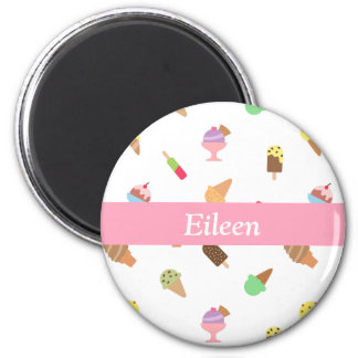 Trendy Colourful Ice Cream Pattern For Her Magnet