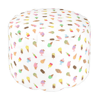 Trendy Colourful Ice Cream Pattern Room Decor Pouf