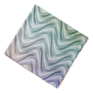 Trendy Cool Colors Abstract Art Bandana
