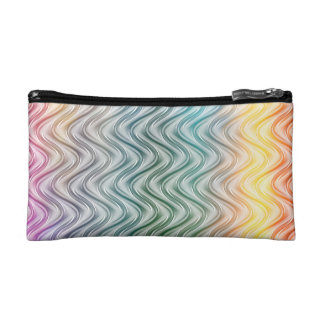 Trendy Cool Colors Abstract Art Cosmetic Bag
