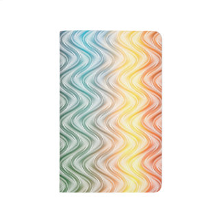 Trendy Cool Colors Abstract Art Journals