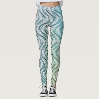 Trendy Cool Colors Abstract Art Leggings