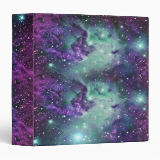 Trendy Cool Sparkly New Nebula Design 3 Ring Binders