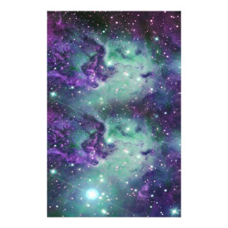 Trendy Cool Sparkly New Nebula Design Custom Stationery
