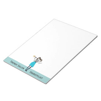 Trendy Curls Beauty Fashion Woman Stylist Notepads