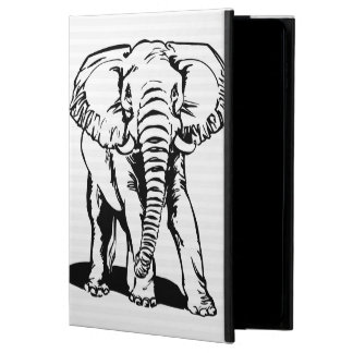 Trendy Cute Black Elephant Line Drawing Powis iPad Air 2 Case