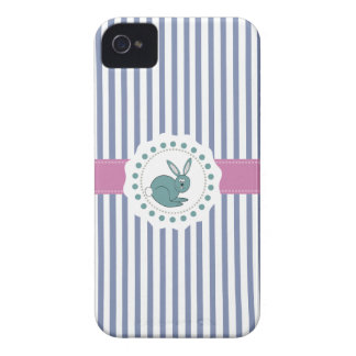 Trendy cute Cheerful cartoon funny bunny iPhone 4 Case-Mate Cases