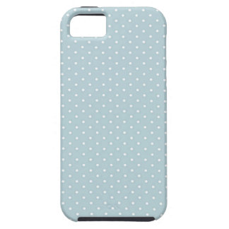 Trendy Cute Girly Blue White Polka Dots Pattern iPhone 5 Covers