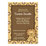 Trendy Cute Jungle Lion 5x7 Baby Shower Invitation
