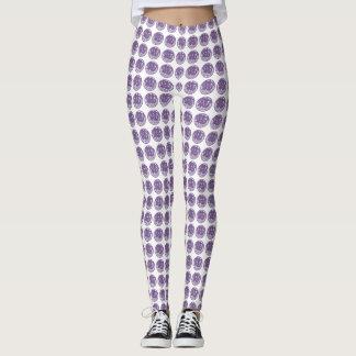Trendy Cute Lavender Pattern Leggings