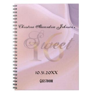 Trendy Cute Soft Purple Gemstone Sweet 16 Birthday Spiral Note Book