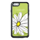 Trendy Daisy Floral Illustration - lime and yellow OtterBox iPhone 6/6s Case