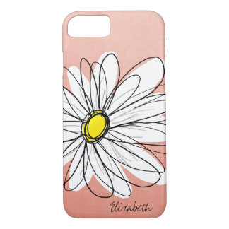 Trendy Daisy Floral Illustration - rose gold Case-Mate iPhone Case