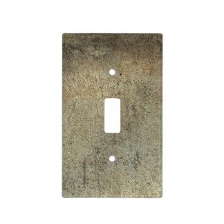 Trendy Dark Brown Grunge Light Switch Cover