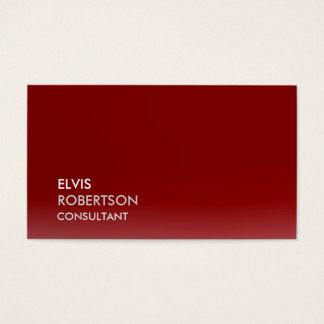 Trendy Dark Red Attractive Plain Simple Business Card