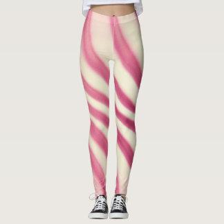 Trendy Dark Red Swirl - Leggings