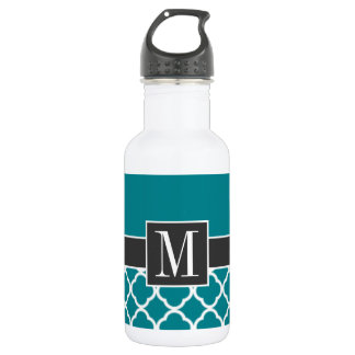 Trendy Dark Turquoise Quatrefoil 532 Ml Water Bottle