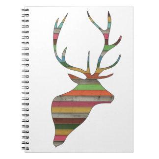Trendy deer head notebooks