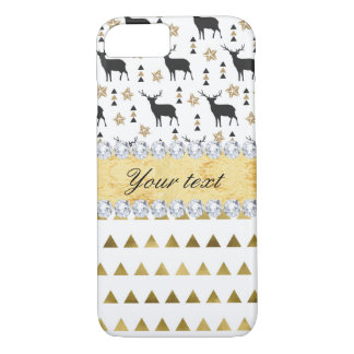 Trendy Deer Triangles Pattern and Diamonds iPhone 8/7 Case