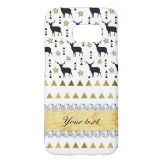 Trendy Deer Triangles Pattern and Diamonds Samsung Galaxy S7 Case