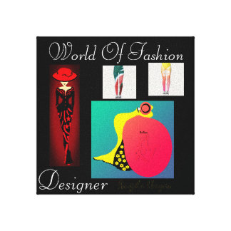 Trendy Designer Fashion Art Deco Canvas Print