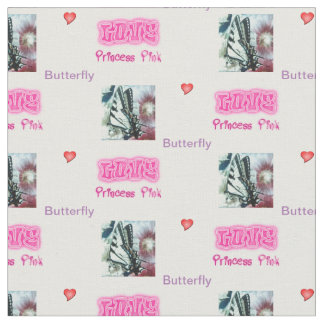 Trendy Designer Princess Pink butterfly Fabric