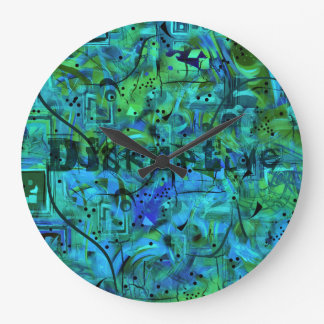 Trendy Disruptive Graphic Print Wall Clock