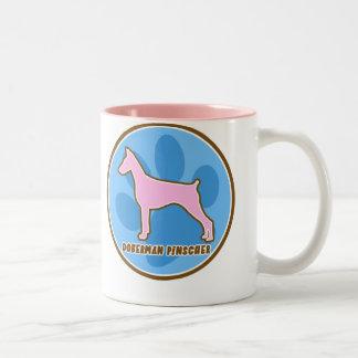 Trendy Doberman Pinscher Two-Tone Coffee Mug