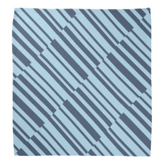 Trendy Earthy Blue Stripes Bandana