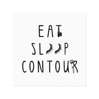 trendy eat sleep contour canvas