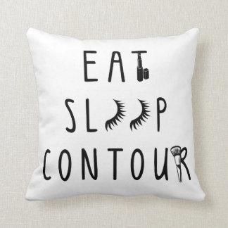 trendy eat sleep contour classy pillow
