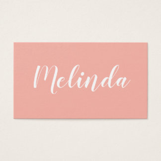 Trendy elegant minimalist modern business card