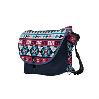 Trendy Ethnic Aztec Geometric Pattern Courier Bag