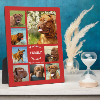 Trendy Family Trip Editable Photo Template Plaque