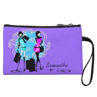 Trendy fashion diva girls purple wristlets