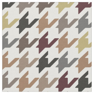 Trendy fashion earth tone houndstooth pattern fabric