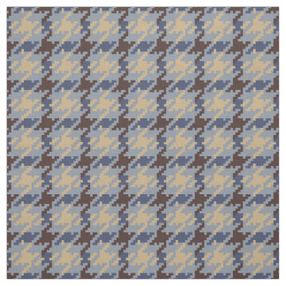 Trendy fashion neutral houndstooth plaid pattern fabric